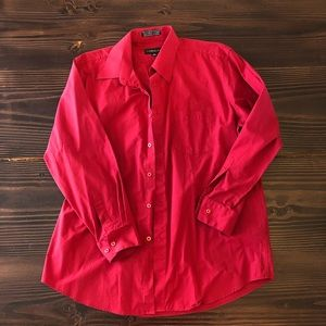 16 1/2 - 32/33 Red Button Down Dress Shirt